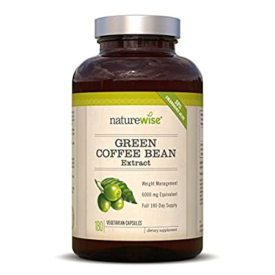 NatureWise Green Coffee Bean Extract 800 Fat Burner with GCA, 1600 mg Per Daily Serving, THE Highest Available on the Market … from NatureWise