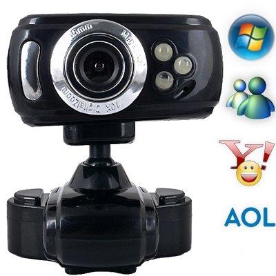 3 LED Cámara Web Cam Webcam 16.0M Píxeles con Micrófono