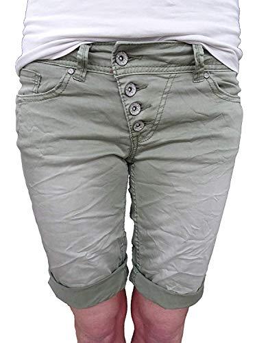 Buena Vista Damen Shorts Malibu Khaki (44) XS Blau-grüne Hose
