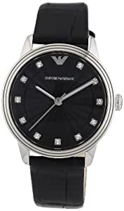 Emporio Armani Damen-Armbanduhr XS Analog Quarz Leder AR1618