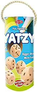 Tactic 54929 Juego de Dados - Juegos de Dados (Yatzy, Cube (6 Sides), 30 min, 5 año(s), Niños, Madera)