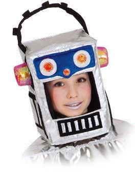 Roboter Kopf zum Roboterkostüm an Karneval (Kopf Kostüm Roboter)