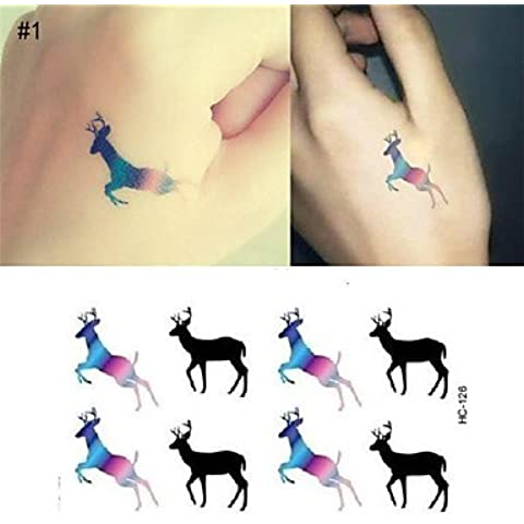 HJLWST® Tattoo Stickers - Tatuajes Adhesivos - Navidad / Año Nuevo - Otros - Bebé / Mujer / Hombre / Adulto / Juventud - Multicolor - Papel -1pcs , set