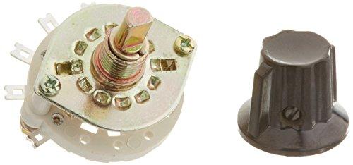 Sourcingmap - 1p6t selettore rotativo 1 polo canale manopola di plastica colpo di banda 6