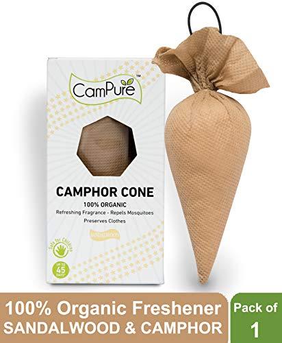 Mangalam CamPure Camphor Cone (Sandalwood & Camphor, Pack of 1)