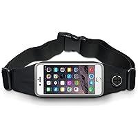 [Deportes riñonera] elástica unidad funda unidad/Cinturón/Outdoor–Riñonera para iPhone se/5S/5/6/6s/6Plus/7, Samsung Galaxy–Running Belt/Cinturón Funda para móvil Smartphone en Negro