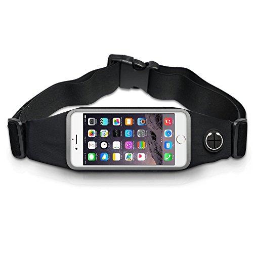 [Marsupio Sportivo] Qumaxx - Cintura da Corsa/Marsupio Con Cintura Riflettente/Running Sportivo Uomo Donna Impermeabile Regolabile per iPhone 6s Plus/6 Plus/6s/6,galaxy S5,s6,note 4/5