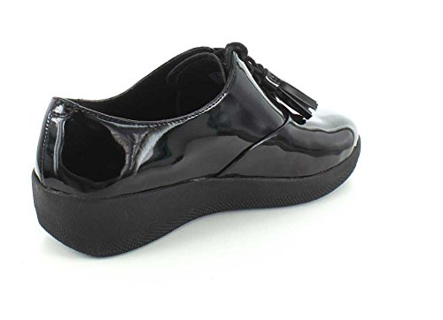 FitFlop Classic Tassel Superoxford Tm, Scarpe Low-Top Donna Nero vernice