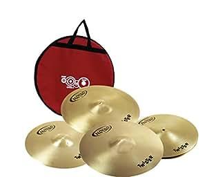 """Orion Cymbals Twister Series Kit de Cymbale Hi Hat 14""""/Crash 16""""/Crash 18""""/Ride 20"""" + Housse"""