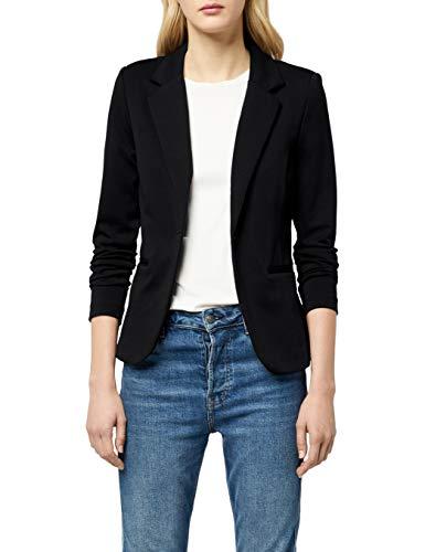 ICHI Damen Anzugjacke Kate BL,Schwarz (Black ( Solid) 10001),38 (Herstellergröße: M)