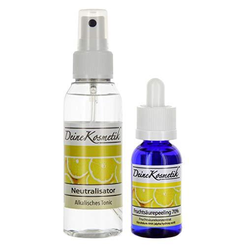 Fruchtsäurepeeling 70%, 0,5 pH, Profiheimbehandlung, AHA Glycolsäure Peeling, Fruchtsäure Peeling, große Größe