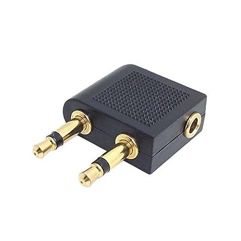 CY 2pcs 90degrés à angle droit 3.5mm 1/8stéréo mini jack femelle vers 2RCA mâle audio Y Type adaptateur de prise