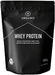 ORGAINIC Bio Kakao Whey Protein - Bio Zertifiziert ohne Zusatzstoffe - Eiweißpulver aus Deutschland - Grasfütt