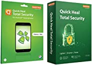 Quick Heal Total Security (1 PC, 3 Year)+Total Security for Android (1 User 1 Year)