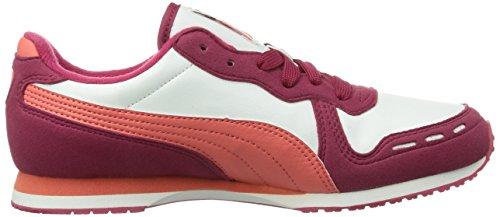 Puma Cabana Racer Sl Jr, Baskets mode mixte enfant Rouge (Cerise-White-Dubarry 29)