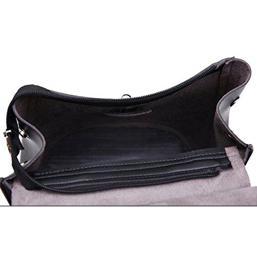 Damenmode Umhängetasche College Schultasche Black