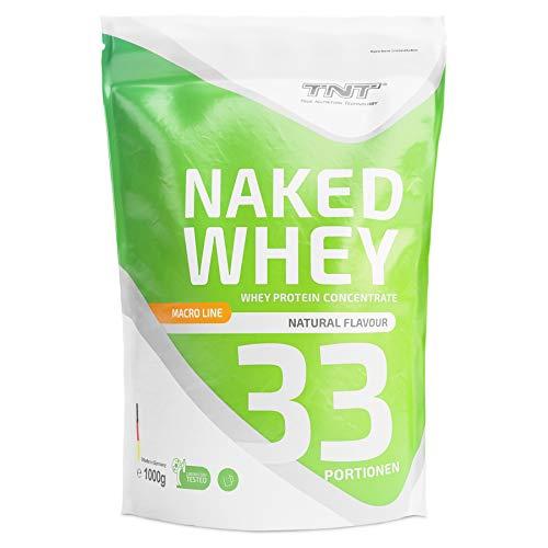 TNT Naked Whey + Laktase - 1kg Whey Protein Konzentrat - Eiweißpulver mit toller Löslichkeit & Geschmack - Proteinpulver (Natural)