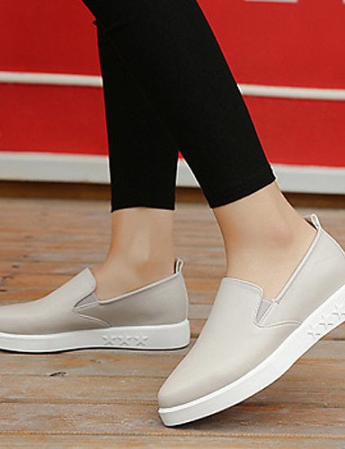 ZQ gyht Scarpe Donna - Mocassini - Casual - Plateau / A punta - Basso - Finta pelle - Nero / Bianco , white-us8.5 / eu39 / uk6.5 / cn40 , white-us8.5 / eu39 / uk6.5 / cn40 black-us6.5-7 / eu37 / uk4.5-5 / cn37