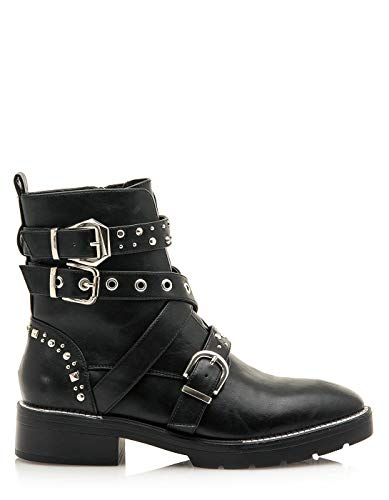 SIXTY SEVEN Black Studded Ankle Boots by Sixtyseven (41 - Black)