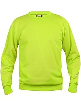 Roundneck Felpa Soft touch, resistente anti_pelucchi, 18 colori, xs_5XL