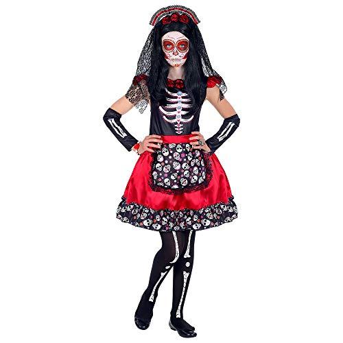 Widmann Kinderkostüm Mujer Dia de los - Dia De Los Muertos Kind Kostüm