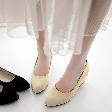 Talloni delle donne Primavera Estate altro vestito similpelle tacco grosso Altri Nero Beige Beige