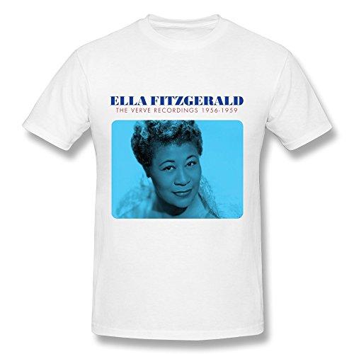 yunggoo Herren Ella Fitzgerald Poster T Shirt Gr. XX-Large, weiß