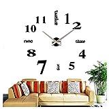 @Reloj de Pared Reloj de Pared Espejo 3D Acrílico Diseño sin Marco Número Relojes de Pared DIY Kit Lujo Moderno Decorativo Grande Sala de Estar Decoración Batería silenciosa Sin tictac Reloj de Pared
