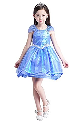Thor Halloween Costume Fille - YMING Filles Robe Bleu Princesse Cosplay Costume