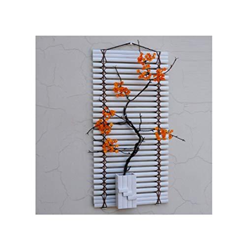 Gaoxingbianlidian001 decorazioni murali, stile minimalista cinese, soggiorno camera da letto, sala da pranzo, tv a parete, (base bianca, cartamo pavimento bianco, pavimento bianco fiore rosa),decoraz