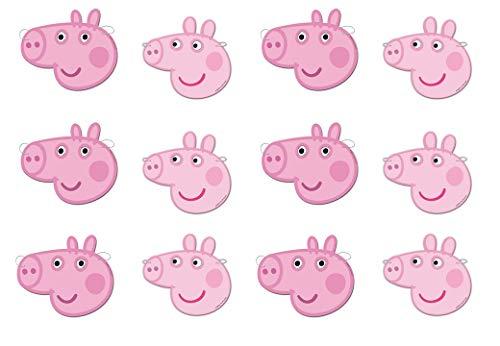 Peppa Pig 0553, Pack 12 caretas, Fiestas y cumpleaños