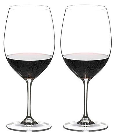 Riedel Vinum 6416/0Cabernet Sauvignon/Merlot (Bordeaux), Set de 2Verre à vin rouge, verre en cristal