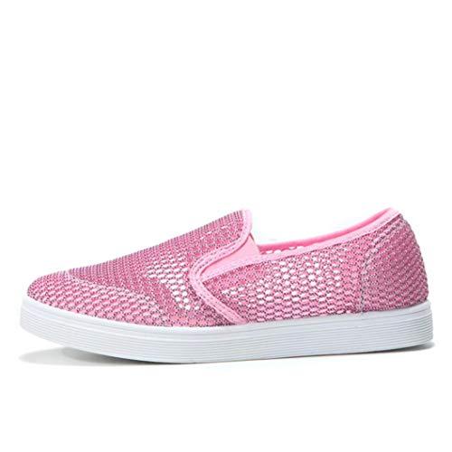 BBestseller-Zapatos para Mujer Zapatos ocasionales de zapatos casuales de malla hueca transpirable zapatos casuales vestir Gym Shoes zapatillas