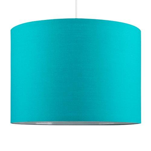 Minisun - paralume moderno, grande e decorativo in policotone di colore turchese per lampada a sospensione/da tavolo