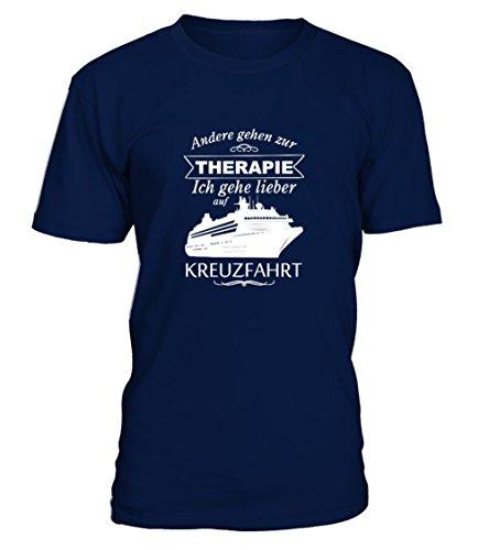 Preisvergleich Produktbild TEEZILY Männer T-Shirt Lieber Kreuzfahrt als Therapie