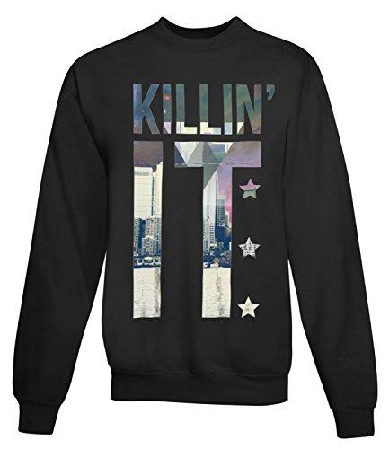 Billion Group | Killin'it With View | City Collection | Women's Unisex Sweatshirt Noir