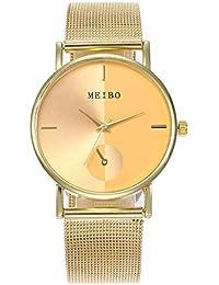 Reloj de Pulsera análogo de la Correa de Newv del Acero Inoxidable Newv de  la Cuarzo Ocasional de Las Mujeres… c01c95884e7e