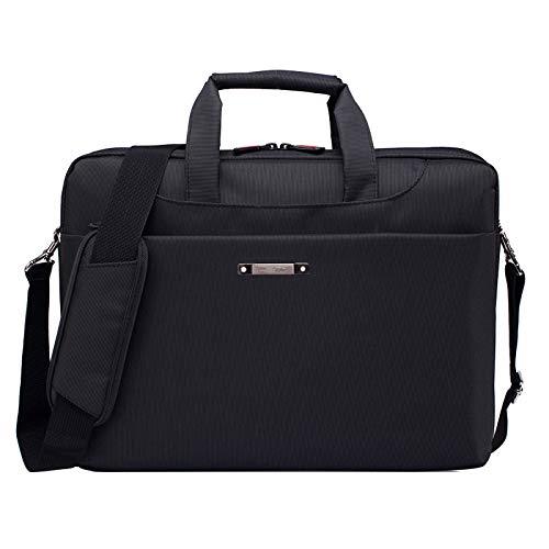 ALLSHOPSTOCK (#78 15.6 inch Portable One Shoulder Waterproof Nylon Laptop Bag, Black (301#)(Black)