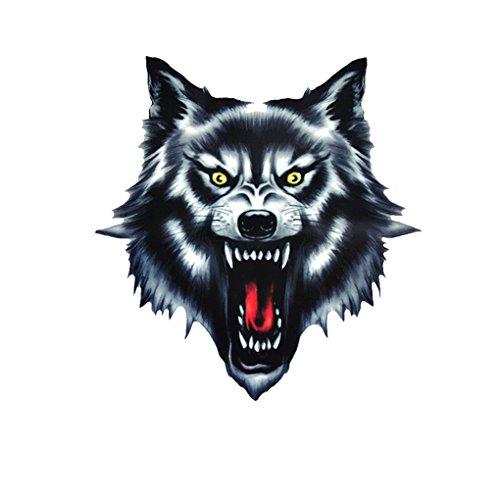 Chowcencen Wolf-Kopf-Motorrad-Motorrad-Auto-Tür-Aufkleber Badge Paster Film Emblem Aufkleber LKW-Helm-Dekor