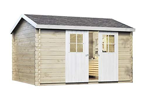 Alpholz Gartenhaus DINANT aus Fichten-Holz | Gartenhütte mit Dachpappe | Geräteschuppen...