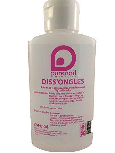 Acetona pura, 100ml, disuelve las uñas postizas, de Geles UV, los esmaltes Permanentes