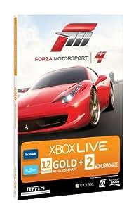 Xbox 360 - Live Gold 12 + 2 Monate - im Design von Forza Motorsport 4