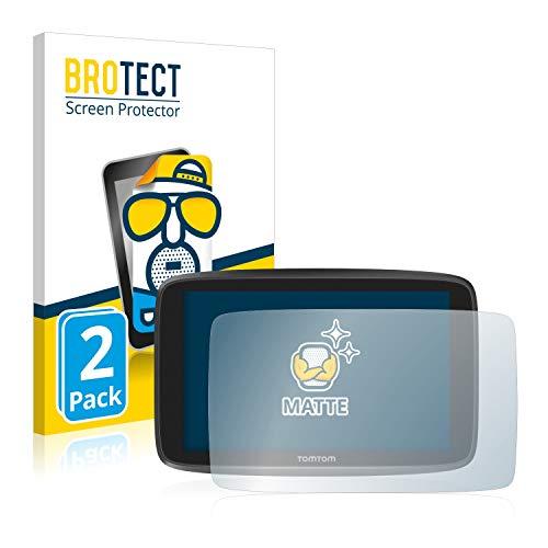 BROTECT Entspiegelungs-Schutzfolie kompatibel mit Tomtom Go Camper/Tomtom GO Essential (6'') (2 Stück) - Anti-Reflex, Matt