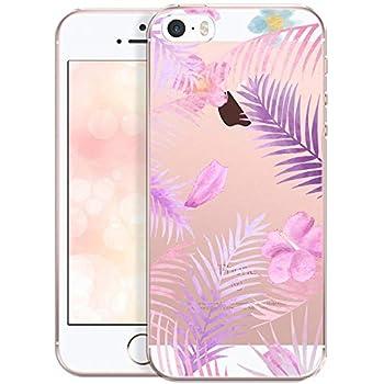 Felfy Coque iPhone Se,Coque iPhone 5S Transparent,iPhone iPhone Se Case Silicone Ultra Mince TPU Case Cr/éatif Motif Coque de Protection Doux Souple Silicone Crystal Clear Anti-Rayures Etui