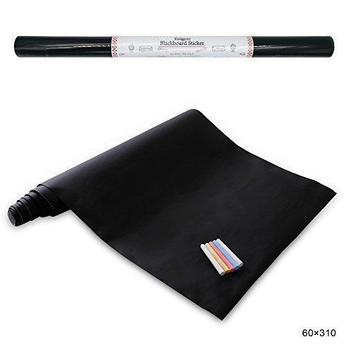 Carta Lavagna Adesiva - Adesivo Lavagna Rimovibile Memo da Parete- 60cm x 310cm con 5 Gessetti - Ezigoo