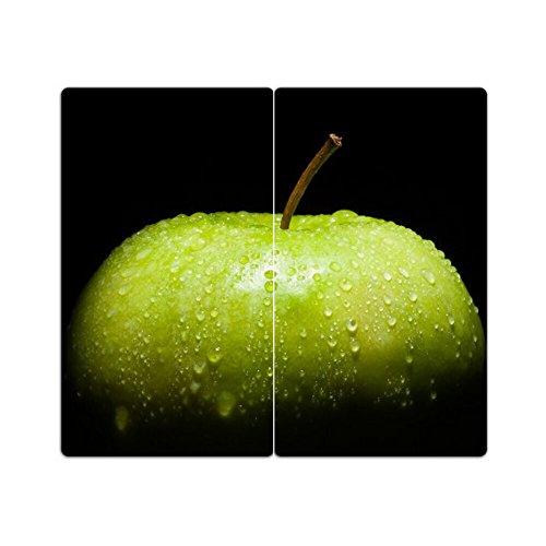 Herdabdeckplatten aus Glas m. Noppen von DekoGlas 2er-Set Herdabdeckung Schneidebrett Spritzschutz Apfel