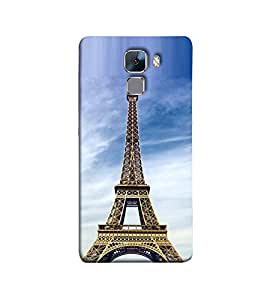 Fuson the ifel tower theme Designer Back Case Cover forHuawei Honor 7 :: Huawei Honor 7 (Enhanced Edition) :: Huawei Honor 7 Dual SIM-3DQ-1123