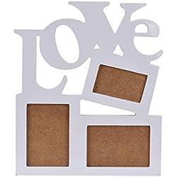Sannysis DIY Marco de madera hueco de la foto - Carta de amor