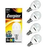 4x Energizer E14SES Golf LED Leuchtmittel 470lm Home Opal 5,9W = 40W warm weiß 2700K