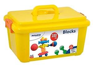 Miniland- Interstar Blocks (100 Piezas) Juego de construcción para niños, Multicolor (94039)